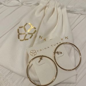 NWT Trina Turk Gold Hoop Earrings